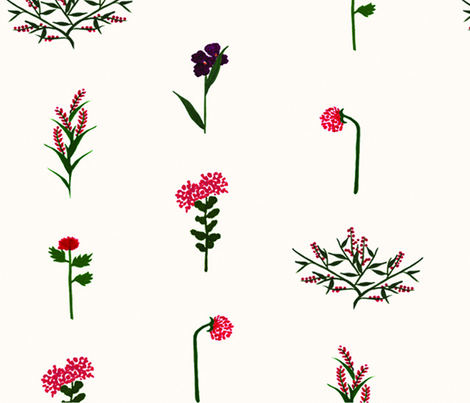 garden party bouquet - wallpaper - fabric by frumafar on Spoonflower - custom fabric