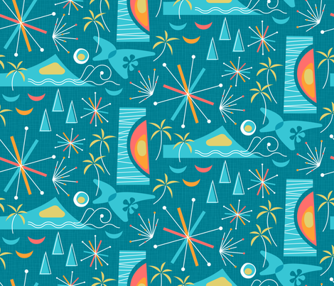 Friday Night Fireworks fabric by mia_valdez on Spoonflower - custom fabric