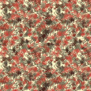 Hawaiian Palm_Trees_Red_Khaki_Cream_Black