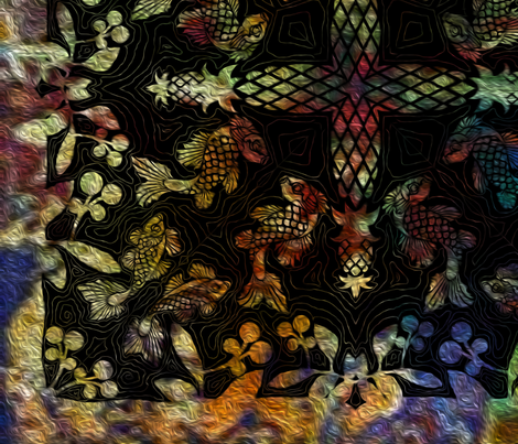 Bohemian Pattern fabric by kedoki on Spoonflower - custom fabric