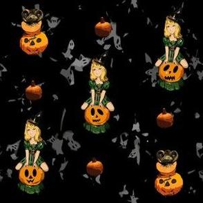 Vintage Halloween - kedoki - Spoonflower Challenge