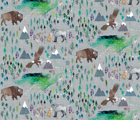 The Boreal  fabric by nouveau_bohemian on Spoonflower - custom fabric