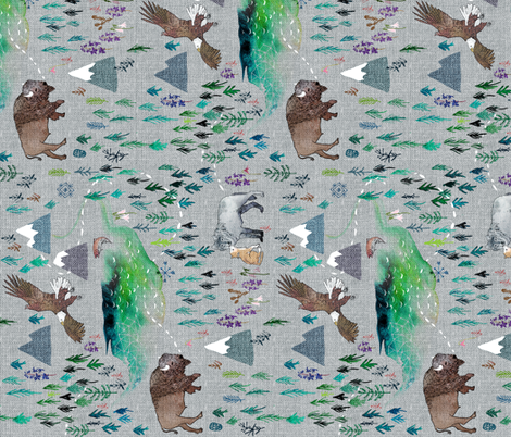 The Boreal (railroad) fabric by nouveau_bohemian on Spoonflower - custom fabric