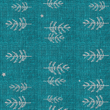 Night forest (teal) Railroad  fabric by nouveau_bohemian on Spoonflower - custom fabric