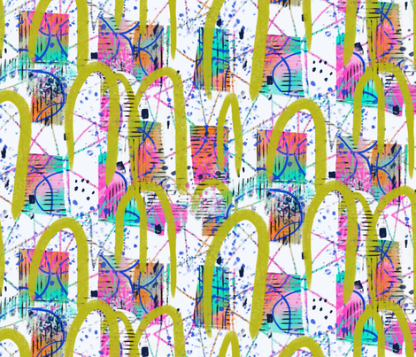 Lawn Croquet Niji fabric by zoe_ingram on Spoonflower - custom fabric