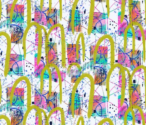 Lawn Croquet Niji fabric by zoe_ingram on Spoonflower - custom fabric