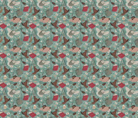Wizards fabric by nuk on Spoonflower - custom fabric