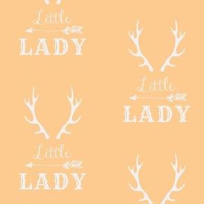 Little Lady White on Peachy Orange