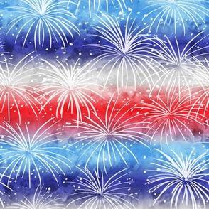 (small scale) america - watercolor fireworks