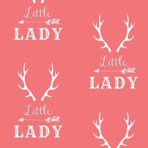 Little Lady White on Dark Pink