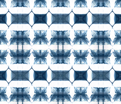 Itajime Shibori Check fabric by amber_coppings_designs on Spoonflower - custom fabric