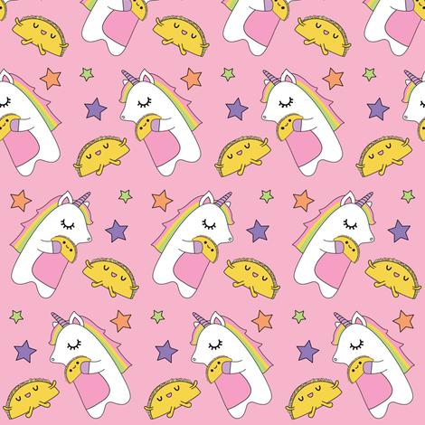 Unicorns & Tacos fabric by boredinc on Spoonflower - custom fabric