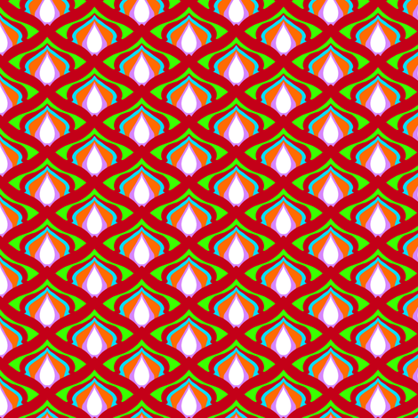 Peacock Scale 3 fabric by jadegordon on Spoonflower - custom fabric