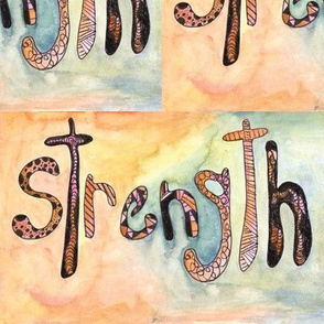Strength and Encouragment Watercolor