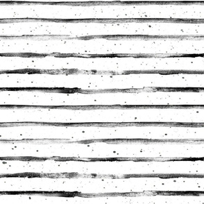 Black and White Abstract Stripes