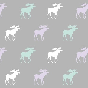 Big Moose - Lavender, mint, white and grey