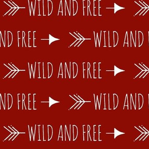 Wild and free arrows - scarlet