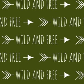 Wild and free arrows - Dark olive green