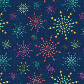Friday Night Fireworks - Retro Blue