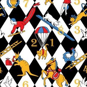 Retro circus table game