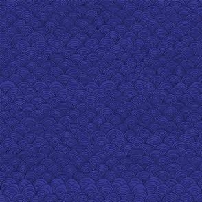 Waves Hand Drawn No1 Blue