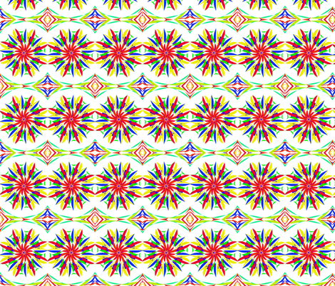 Fireworks in a Spin fabric by rhondadesigns on Spoonflower - custom fabric