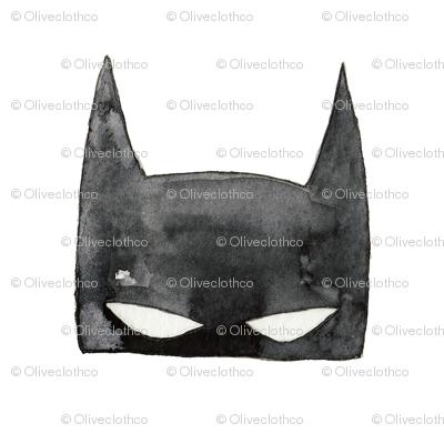 Bat Mask in Watercolor