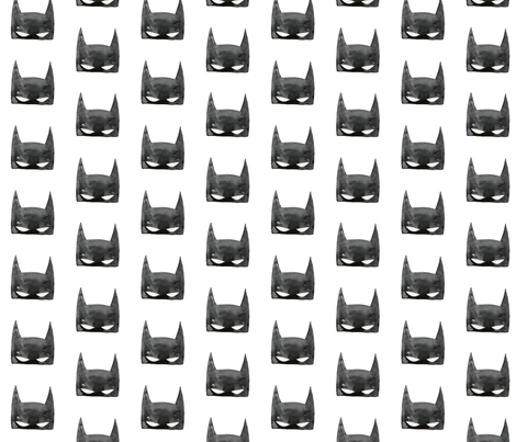 Bat Mask in Watercolor fabric by hipkiddesigns on Spoonflower - custom fabric