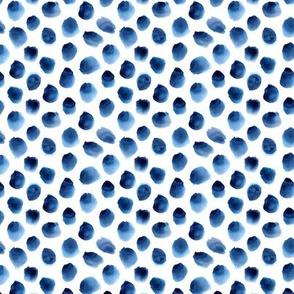 Watercolor blue dots mini
