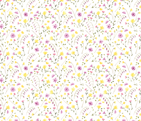 Field of Flowers fabric by ldpapers on Spoonflower - custom fabric