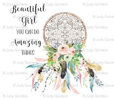 "42""x36"" Beautiful Girl Quote / Upright"