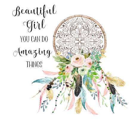 "42""x36"" Beautiful Girl Quote / Upright fabric by shopcabin on Spoonflower - custom fabric"