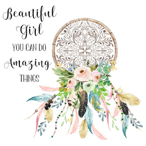 """42""""x36"""" Beautiful Girl Quote / Upright"""