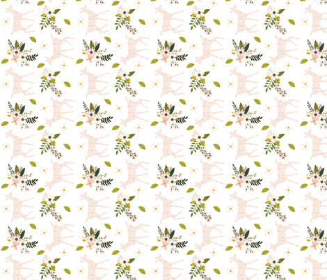blush sprigs and blooms fawn // small // rotated fabric by ivieclothco on Spoonflower - custom fabric