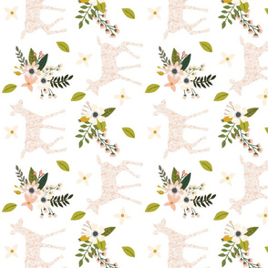 blush sprigs and blooms fawn // small // rotated