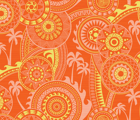 Pacific Glow Sunshine fabric by chris_jorge on Spoonflower - custom fabric