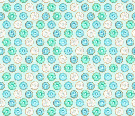 Iced_donuts_blue_on_light_mint_7_inch_150_hazel_fisher_creations_shop_preview