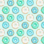 Iced_donuts_blue_on_light_mint_7_inch_150_hazel_fisher_creations_shop_thumb