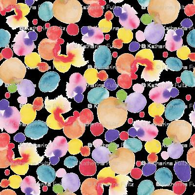 Abstract Watercolor Circles - Large