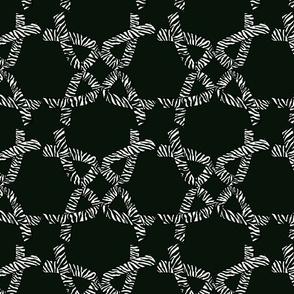 Zebra ribbon on black