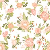 peach floral print