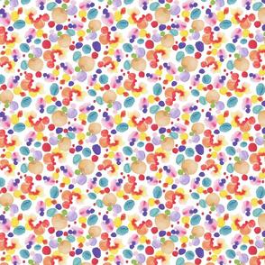 Abstract Watercolor Circles - Small