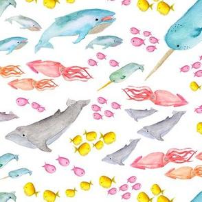 Watercolor Sea Scape