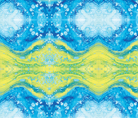 Abstract Fluid Art Dirty Pour fabric by lilymorgan on Spoonflower - custom fabric