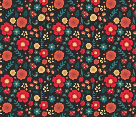 Salmon_teal_florals_swatch_shop_preview
