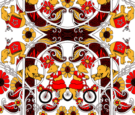 Elephants, and Tigers, and Bears, Oh My! fabric by edsel2084 on Spoonflower - custom fabric