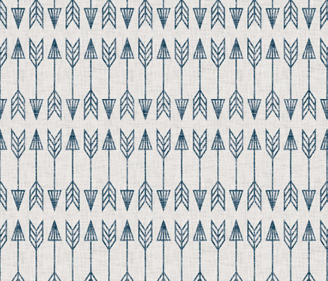 arrowhead_tribal_navy fabric by holli_zollinger on Spoonflower - custom fabric