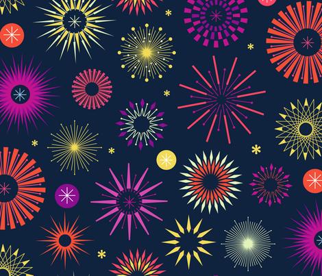 Friday Night Lights - Hot Tropical fabric by lellobird on Spoonflower - custom fabric