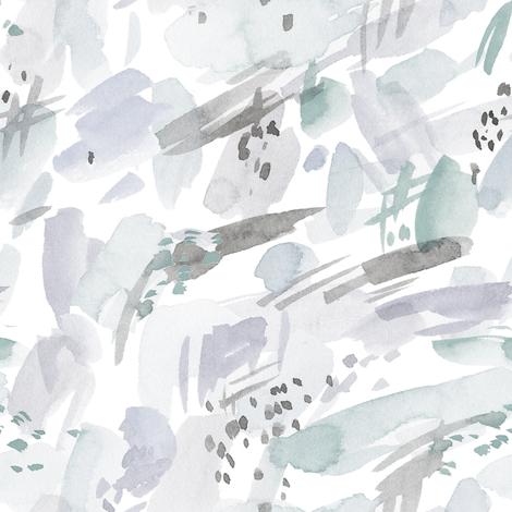 "8"" Grey and Green Mod fabric by rebelmod on Spoonflower - custom fabric"