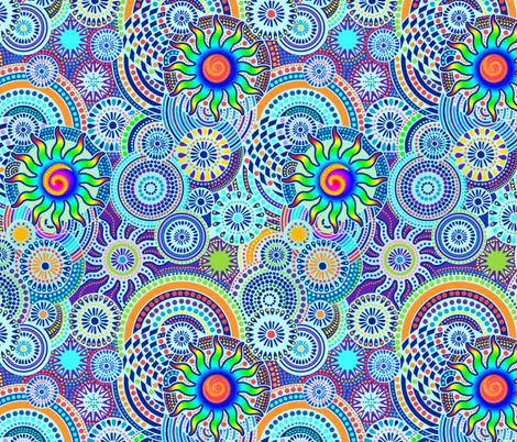 Rainbow Hawaii Friday Fireworks fabric by elramsay on Spoonflower - custom fabric